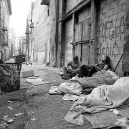 Alleyway for Native Americans, Skid Row, Los Angeles 1980s