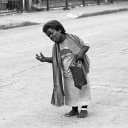 Patient Just Dumped, Skid Row, Los Angeles 1980s