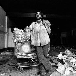 Searching for Stuff to Sell, Skid Row, Los Angeles 1980s