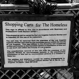 Shopping Carts for the Homeless, Skid Row, Los Angeles 1980s
